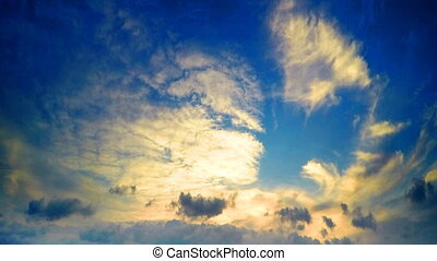 Clouds and sky before sunset