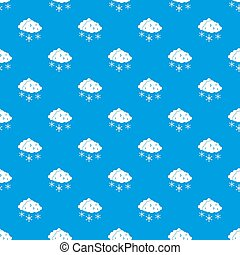 Clouds and snow pattern seamless blue