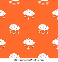 Clouds and snow pattern seamless