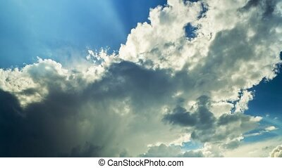 clouds and sun, time-lapse