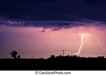 Clouds and thunder lightnings and storm