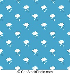 Clouds and water drops pattern seamless blue