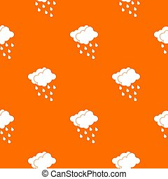 Clouds and water drops pattern seamless