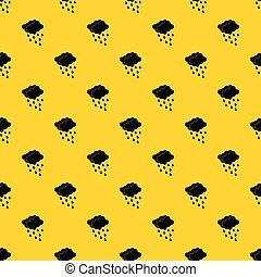 Clouds and water drops pattern vector