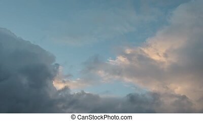 Clouds are flying, fast shooting - The clouds are gathering,...