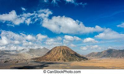 Clouds at Mount Batok, Indonesia. Bromo Tengger Semeru ...