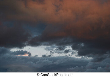 Clouds at sunset.