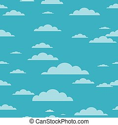 Clouds background - seamless cloud texture vector