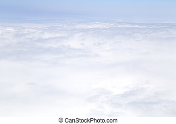 clouds background taken from airplane
