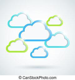 Clouds background. Vector illustration. Eps10.