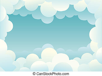 Clouds background. Vector image for design