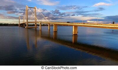 Clouds Cable Bridge Intercity Columbia River Kennewick Pasco Washington