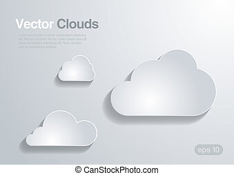 Clouds collection. Vector background.