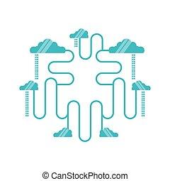 clouds computing network diagram