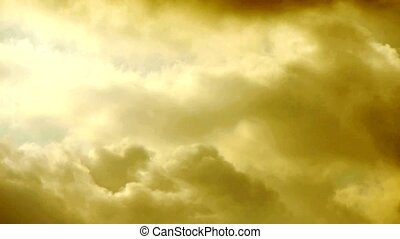 clouds cover sky, heaven rays light, Altocumulus, dusk, ...