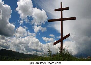 clouds., croix