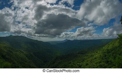 Clouds Drift in Timelapse over Dramatic Natural Vista in ...