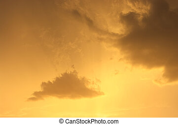 Clouds during the golden sunset