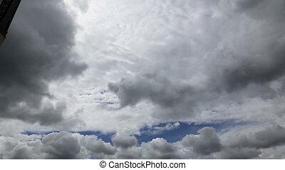 clouds fast motion sky - DSLR Full HD progressive video...