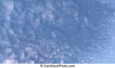 clouds float in the blue sky