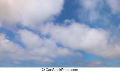 Clouds Flying By Loop - Looping one minute footage features...