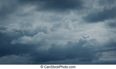 Clouds Forming In Dramatic Sky - Big clouds form in stormy...