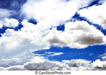 Clouds high in the sky.