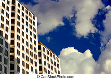 clouds, high-rise