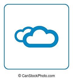 Clouds icon cartoon