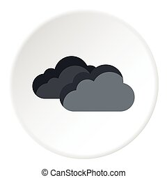 Clouds icon, flat style