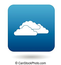 Clouds icon in simple style