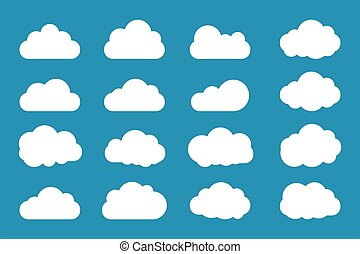 Clouds icon set flat style