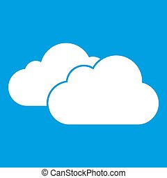 Clouds icon white