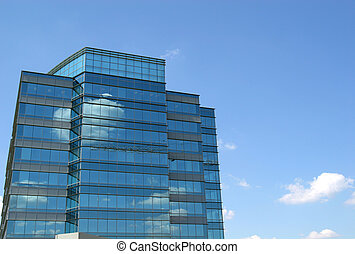Clouds in Blue Glass