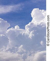 Clouds in blue sky before rain