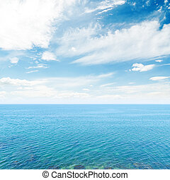clouds in blue sky over sea