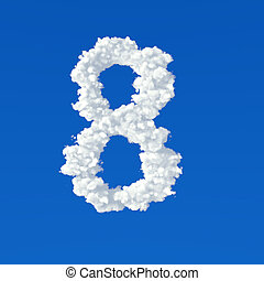 clouds in shape of number eight