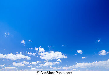 blue sky - clouds in the blue sky