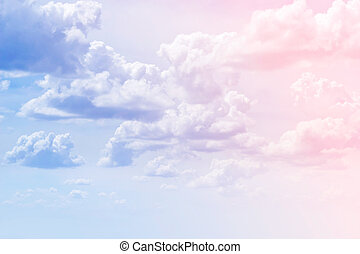 clouds in the colorful sky background