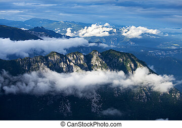 clouds in the italian alps