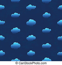 Clouds in the night sky. Seamless pattern