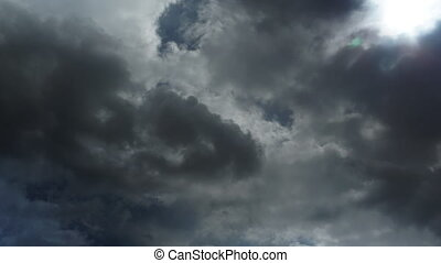 Clouds in the sky during bad weather 4k