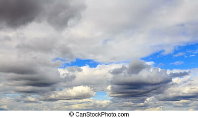 Clouds in the sky. Time Lapse