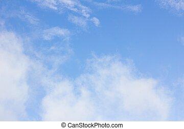 clouds in the wonderful blue sky