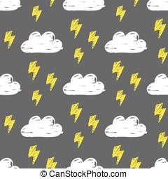 Clouds lightning pattern