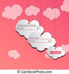 clouds login page