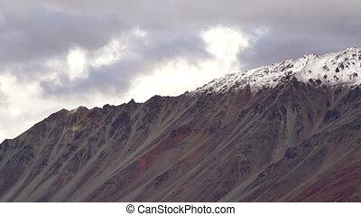 Clouds Move Fast Over Alaska Range United States North...