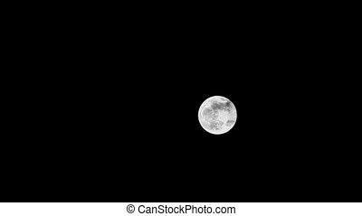 Clouds moving on the moon