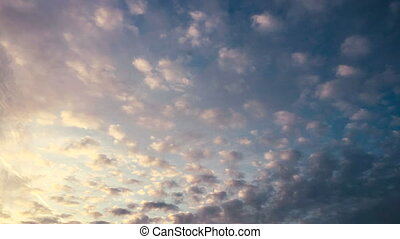 Amazing beautiful white clouds moving time lapse.
