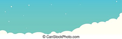 Clouds on a blue sky background. Vector illustration.
